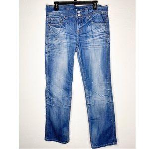 VIGOSS whisker distressed was flap pocket jeans 13